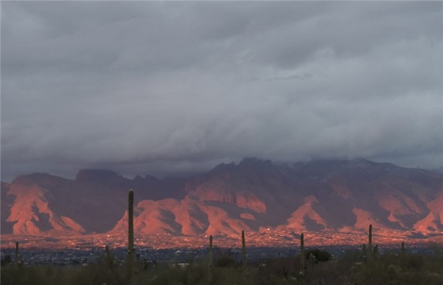 Evening Twilight, Santa Catalina Mountains - Tucson, Arizona