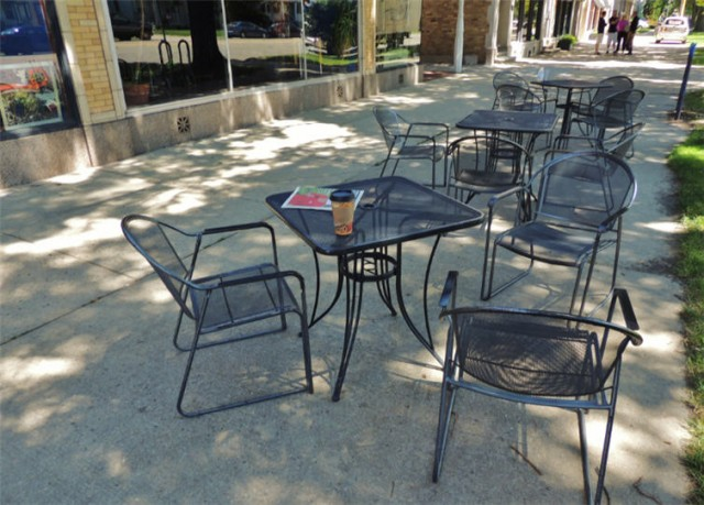Outdoor Seating, Electric Earth Cafe