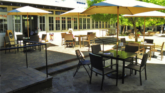 Outside Seating at Entrance, Stella