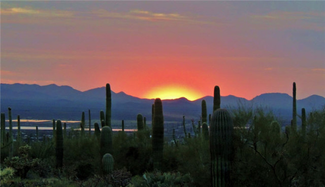 Sunset, Tucson Mountains